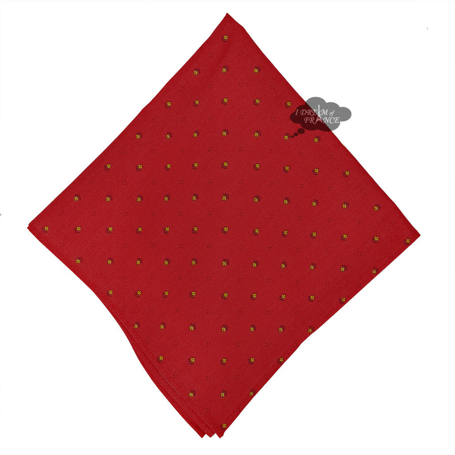 Ramatuelle Red Provence Cotton Napkin by Tissus Toselli
