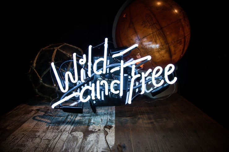 Wild and Free Neon Wall Light