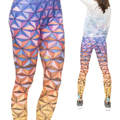 Robert Matthew Geometric Triangles Print Leggings