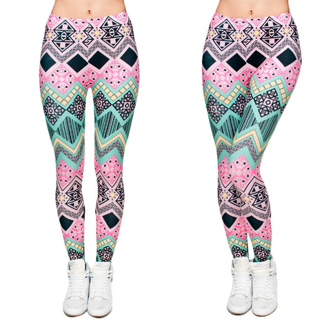 Robert Matthew One Size Print Leggings - Wild Aztec