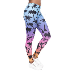 Robert Matthew Palm Sunset Print Leggings