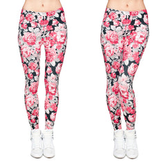 Robert Matthew Flower Power Print Leggings