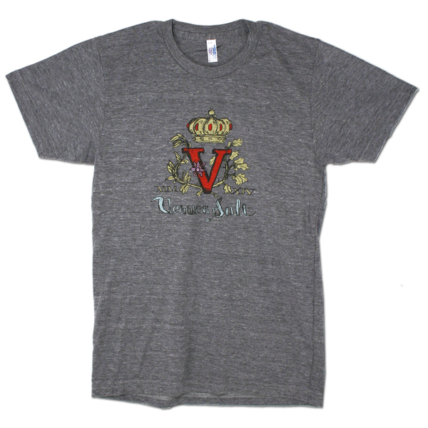 Unisex Gray V-Logo T-Shirt-X-Small