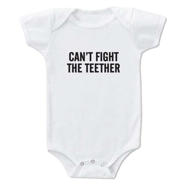 Can't Fight The Teether Whight Onesie-12M