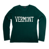 VERMONT cashmere sweater, Green/Ivory