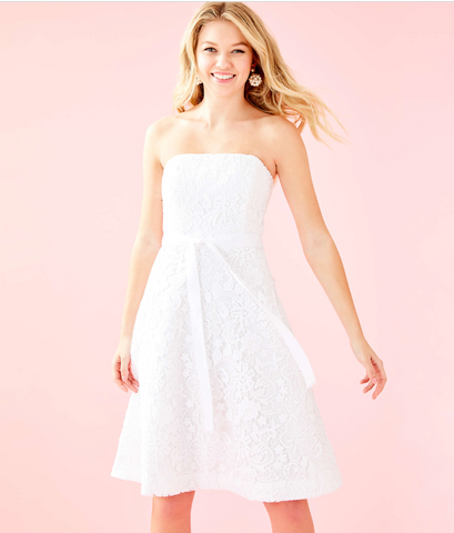 "Lilly Pulitzer ""Sienna"" Dress, Resort White"