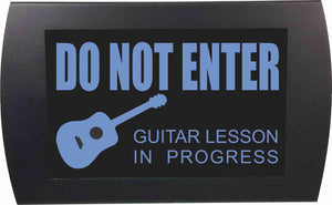 GUITAR LESSON IN PROGRESS - LED Indicator Sign