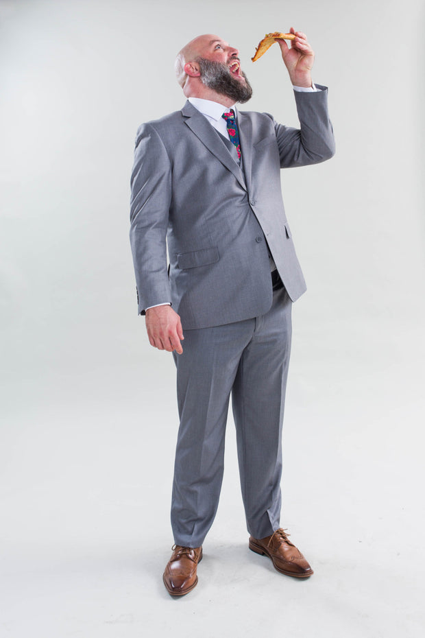 Pursuit Light Gray Regular Fit Suit Coat