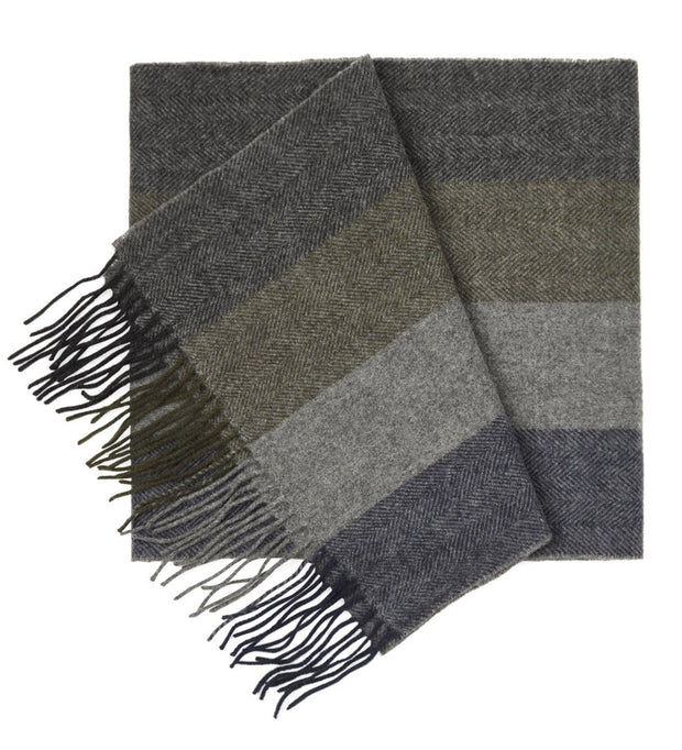 Army Green North Center Stripes Scarf