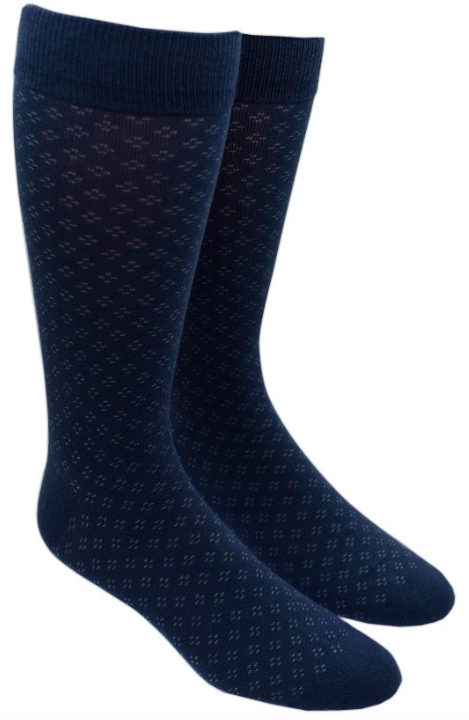 Speckled Navy Sock