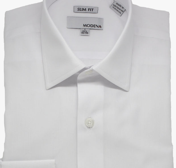 Modena White Slim Dress Shirt