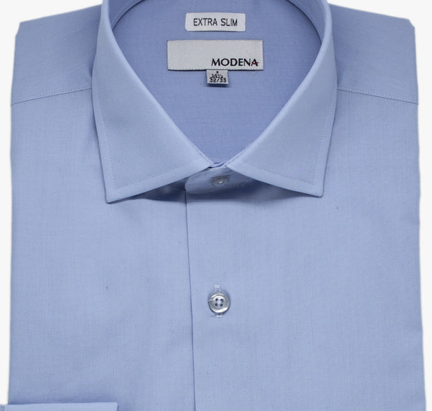 Powder Blue Modena Extra Slim Dress Shirt