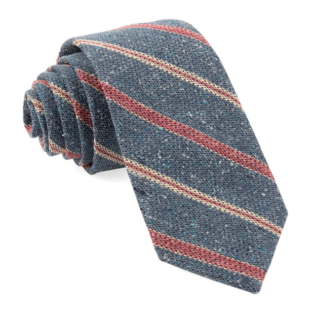 Light Blue Cargo Stripe Tie
