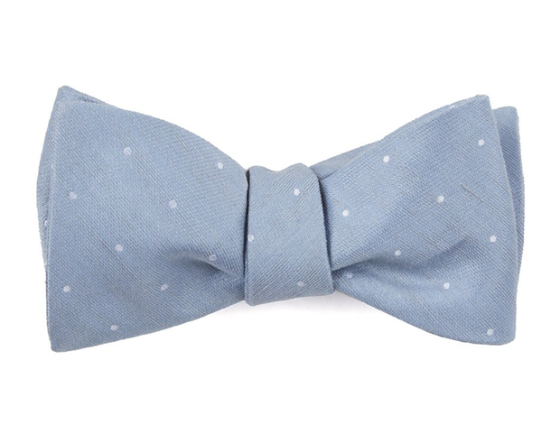 Slate Blue Bulletin Dot Bow Tie