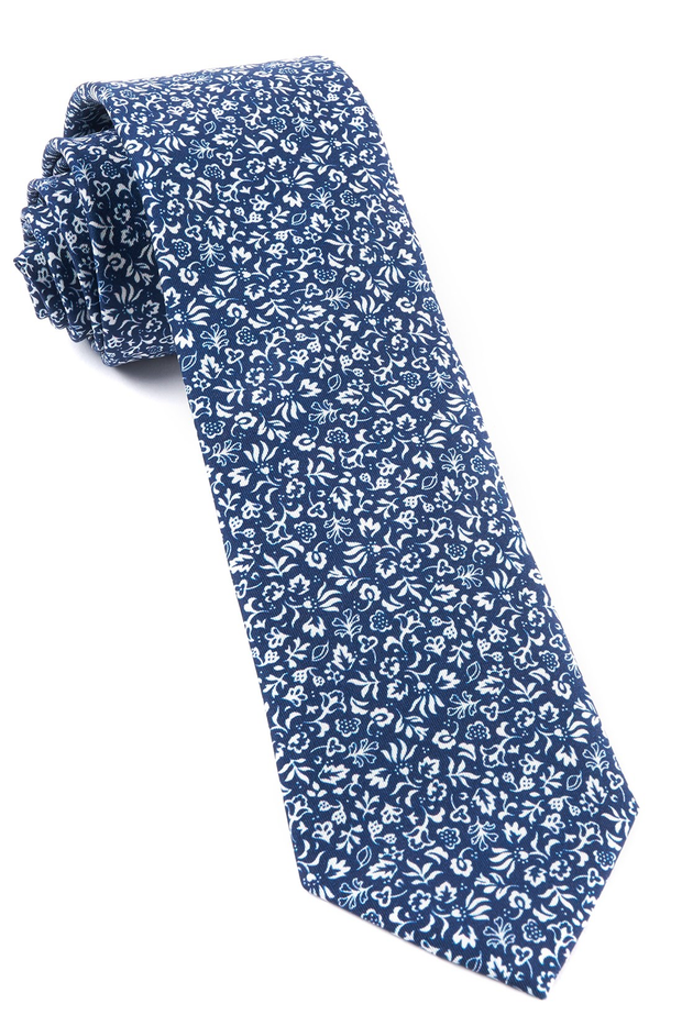 Navy Habitat Bloom Tie