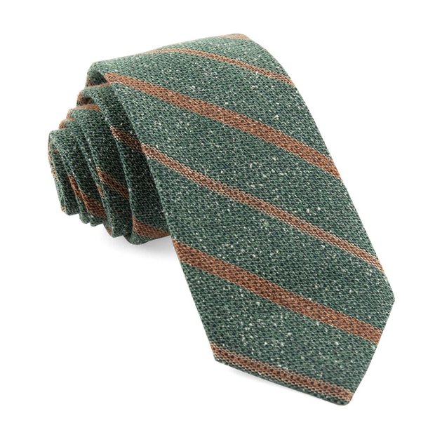 Hunter Green Cargo Stripe Tie