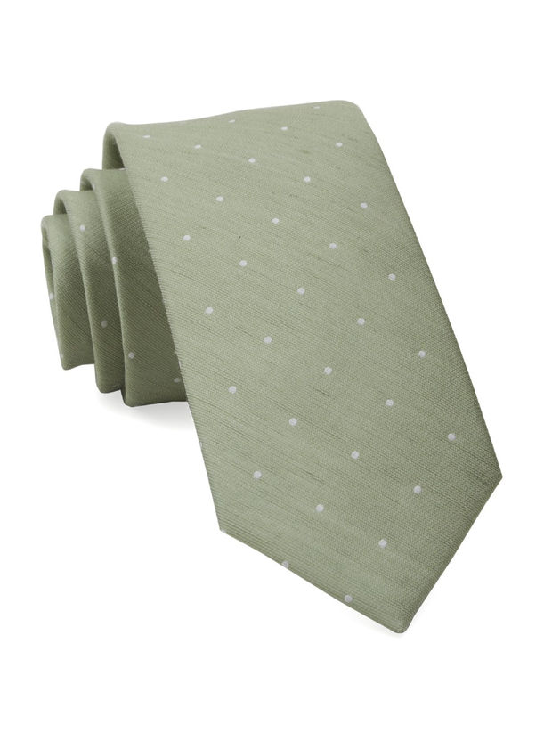 Sage Green Bulletin Dot Tie
