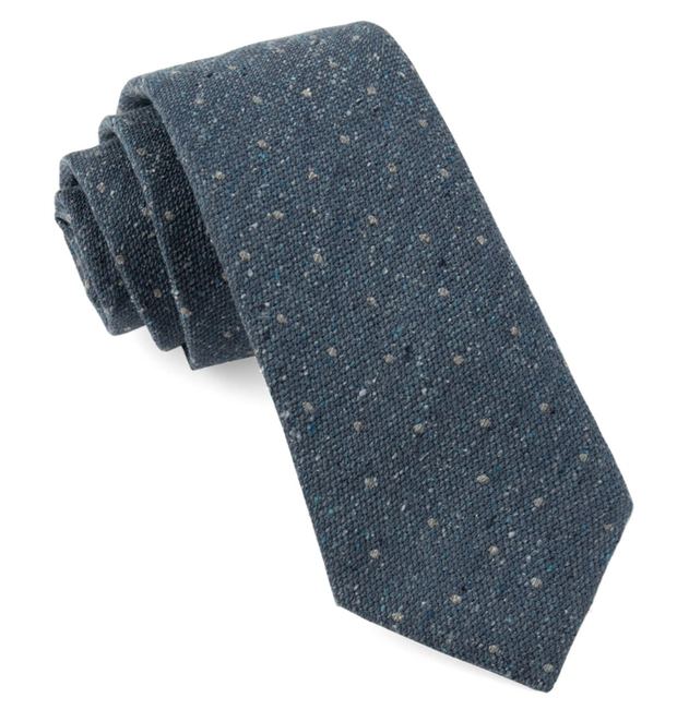 Slate Blue Redwood Dot Tie