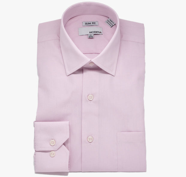 Modena Slim Pink Dress Shirt