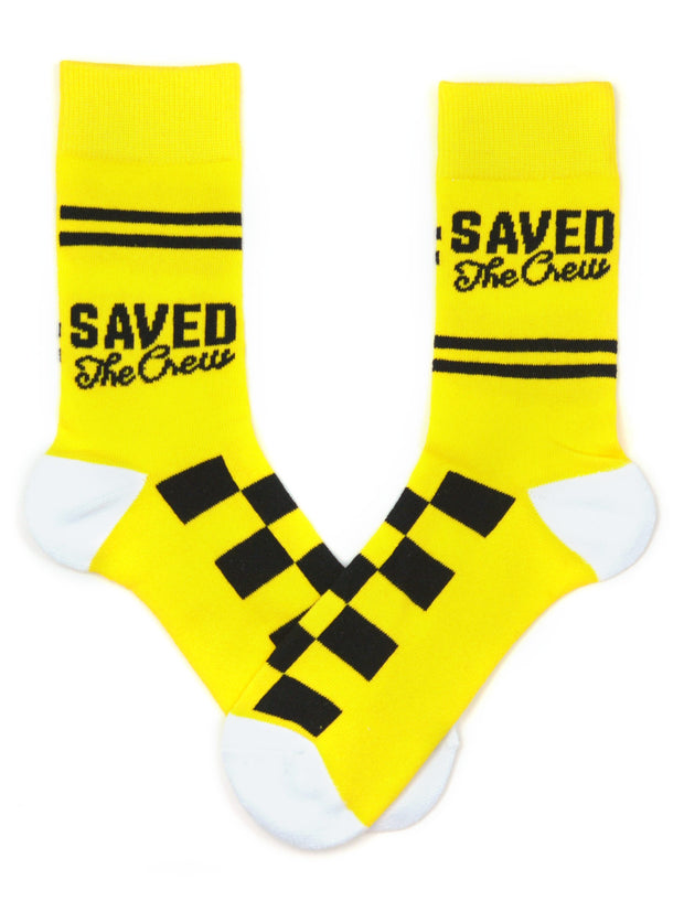 Keep It Simple Gold Saved The Crew Socks