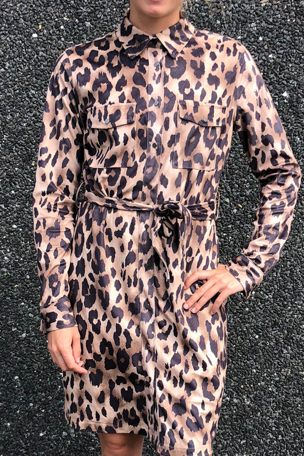 Moscow Alva dress | Leopard | Kjole fra Global Funk