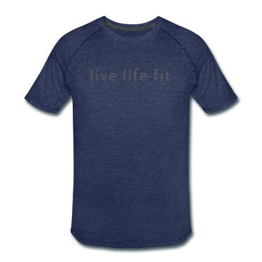 live life fit: men's sport performance tee: navy