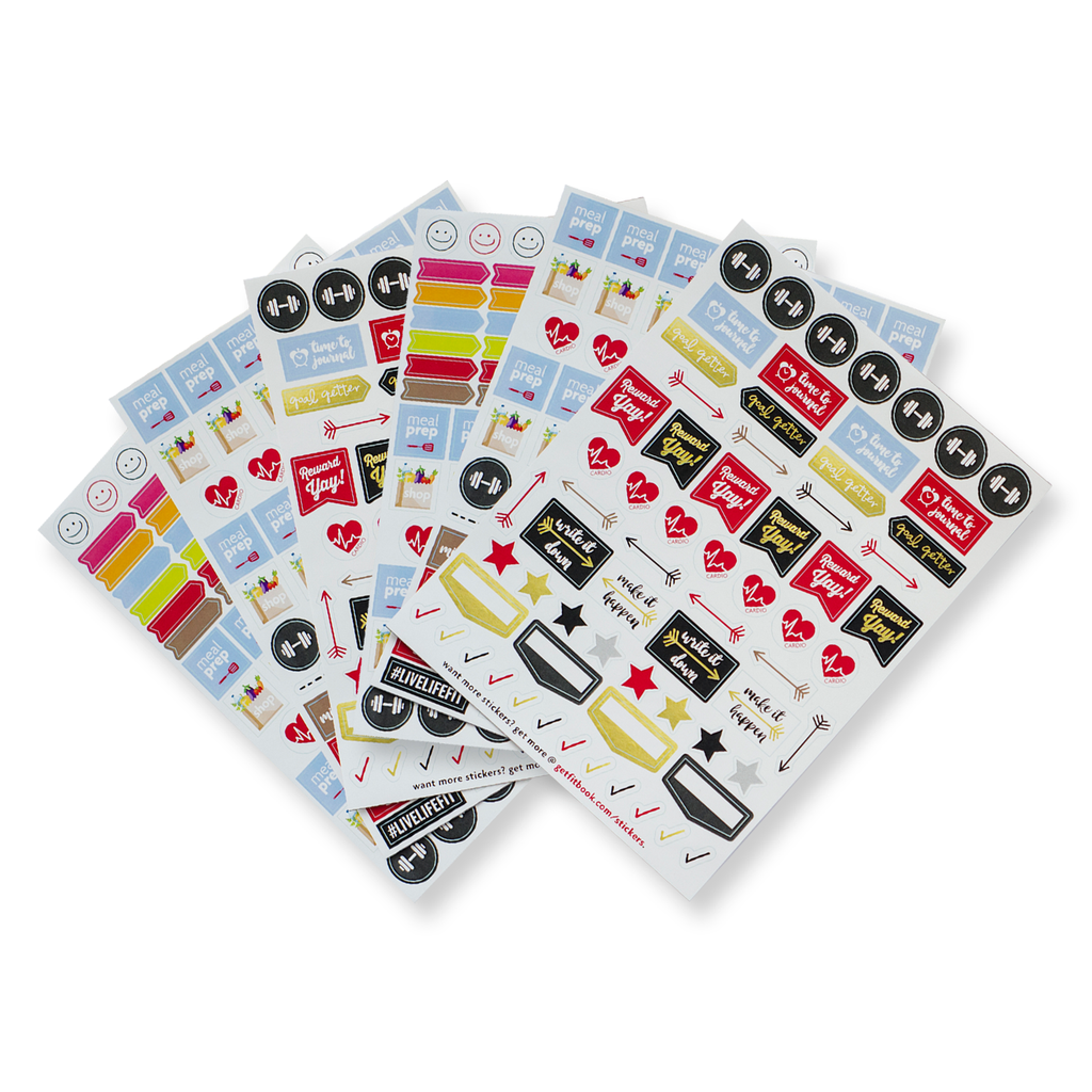 fitspiration stickers [set of 6 sticker sheets]