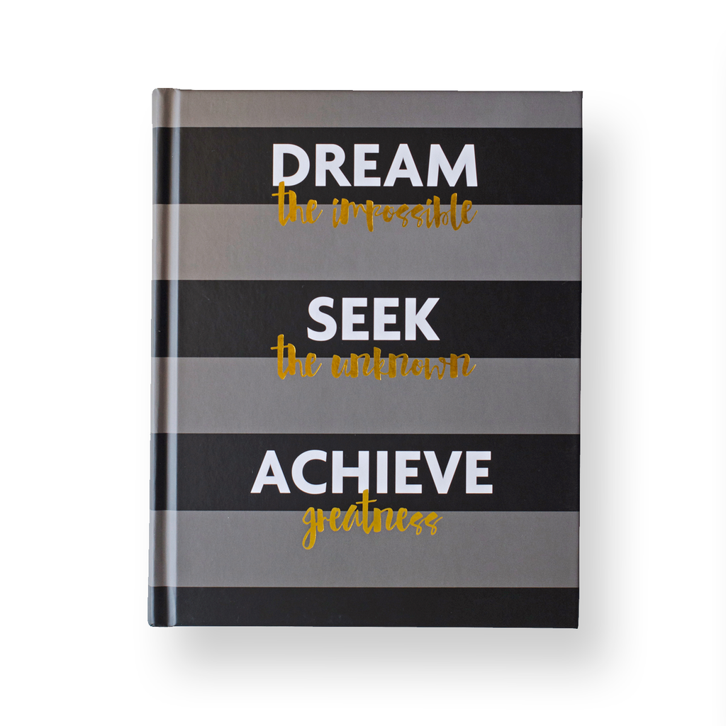 dream seek achieve: fitspiration gratitude + fitness journal