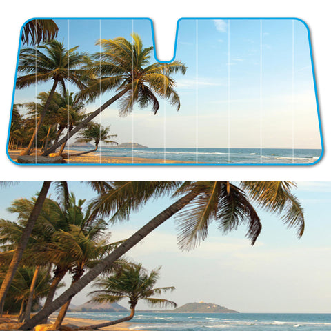 Palm Beach Island Auto Sun Shade - Front Windshield Sun Protector - 58