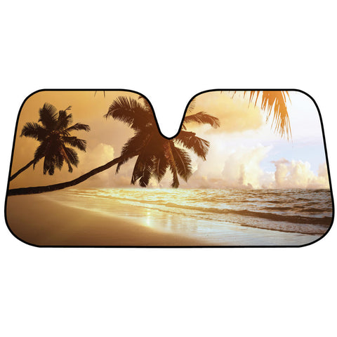 Golden Sunset Sunshade - Front Windshield Sun Protector