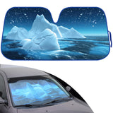 Double Bubble Auto Sun Shade for Car SUV Truck - Keep it Cool w/ Blue Glacier Iceberg - Jumbo Folding Accordion