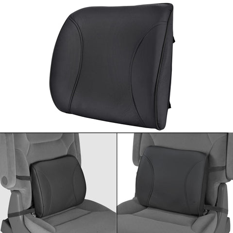 Cushioned Back Support Lumbar - Orthopedic Massage (Black)