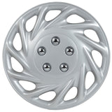 "Drive Accessories KT-858-14S/L, Ford Escort, 14"" Silver Replica Wheel Cover, ..."