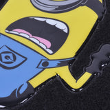 "Despicable Me Minions Car Floor Mats - ""Stuart"" Yellow Blue Black on Carpet - 4pc Set"