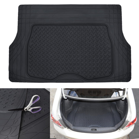 Motor Trend Flex Liner Cargo Trunk Mat - Thick, Heavy Duty Rubber for Car SUV Van (3 Color)