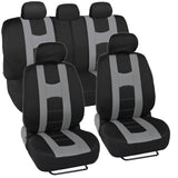 Rome Sport Seat Covers for Car SUV - Sporty Racing Style Stripes (5 Color)