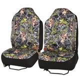High Back Truck Seat Covers Integrated Seatbelt For Pickups SUVs (Camouflage)