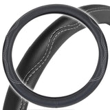 Black Steering Wheel Cover Odor-Free BPA Free Durable TPE Leather Eco Friendly