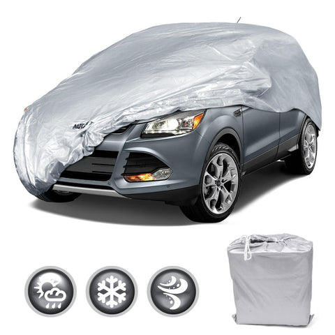 Motor Trend All Season WeatherWear 1-Poly Layer Snow Proof, Water Resistant Van / SUV Cover Size L - Fits up to 185
