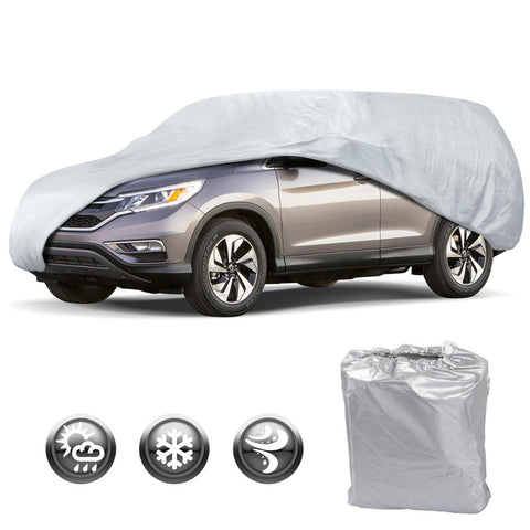 Motor Trend All Season WeatherWear 1-Poly Layer Snow proof, Water Resistant Car Cover Size XL1 - Fits up to 200