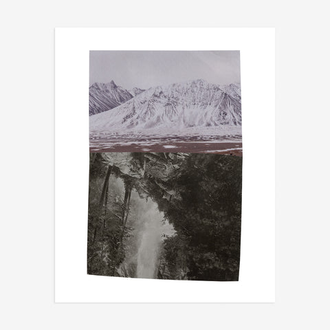 Fine art print of mountain by Seattle artist Serrah Russell