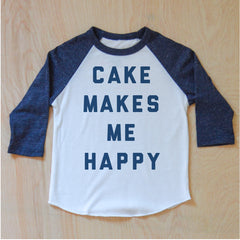 Cake Makes Me Happy Raglan {Miss Jones} at Hi Little One
