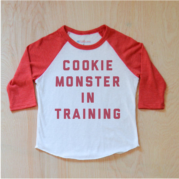 Cookie Monster in Training Raglan {Miss Jones} at Hi Little One