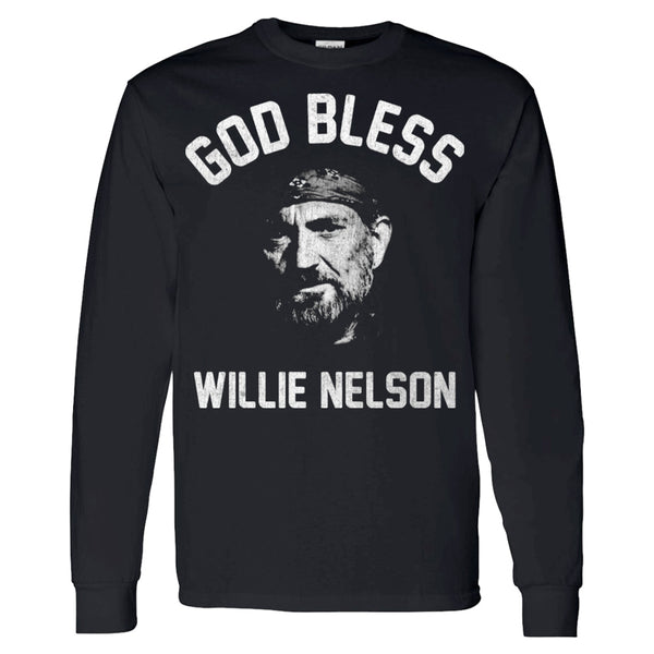 God Bless Willie Nelson Long Sleeve