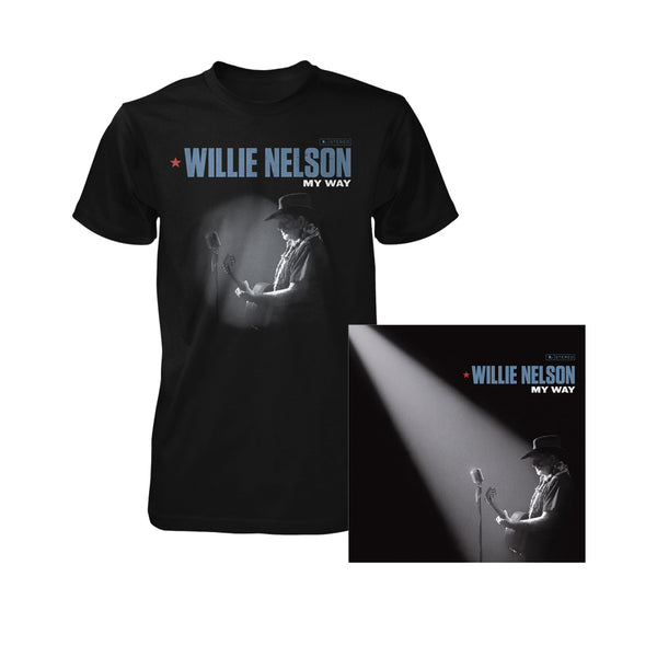 Willie Nelson My Way CD & Tee Bundle