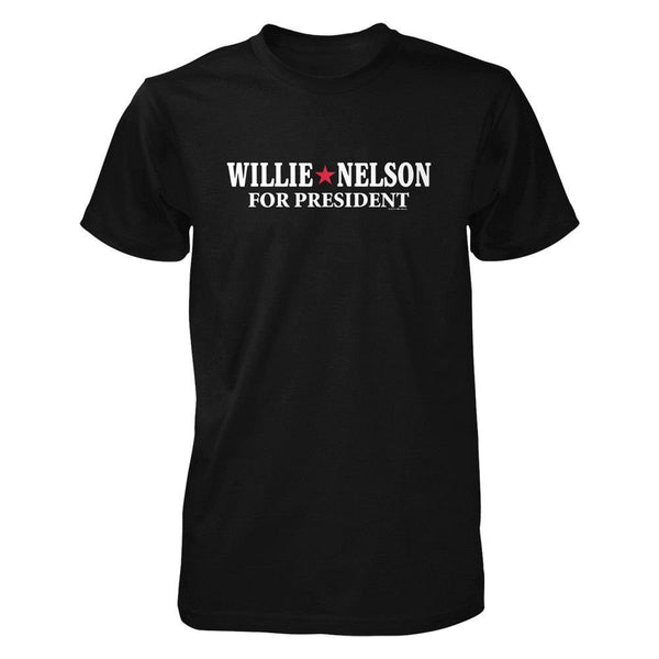 Willie for President Black Tee