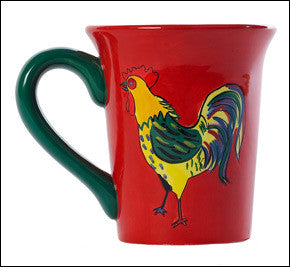 Bunnery Rooster Mugs (Set of 4)