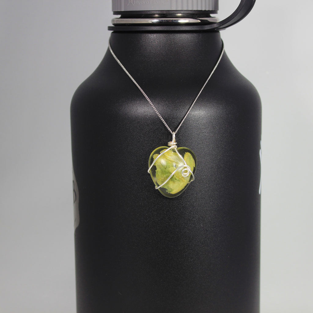 Beer Ingredient Necklace - Hop Heart