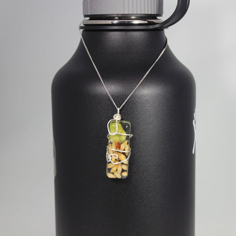 Beer Ingredient Necklace - Hops and Malt