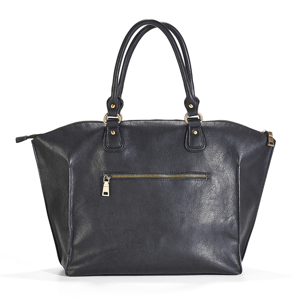A classic silhouette meets diaper bag.